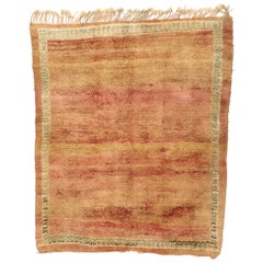 Vintage Berber Moroccan Rug with Warm, Rustic Mid-Century Modern Style