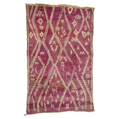 Vintage Berber Moroccan Zayane Rug with Tribal Boho Chic Style