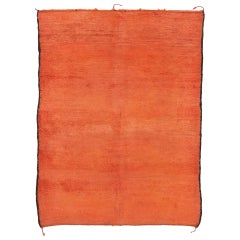 Vintage Berber Red Moroccan Rug with Modern Style