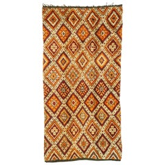 Vintage Berber Taznakht Moroccan Rug with Modern Northwestern Style
