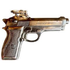 Vintage Beretta Handgun Lighter