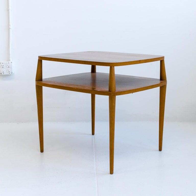 Mid-Century Modern Vintage Bertha Schaefer Walnut Side Table for Singer & Sons, 20th Century, USA For Sale