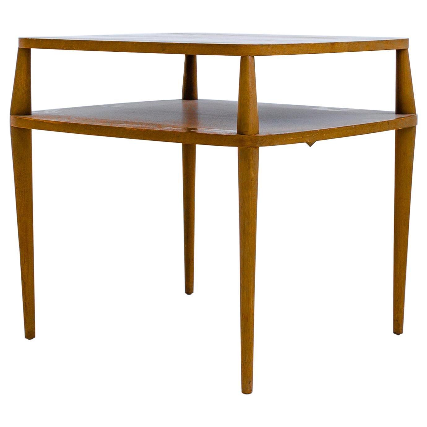 Vintage Bertha Schaefer Walnut Side Table for Singer & Sons, 20th Century, USA
