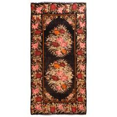 Vintage Bessarabian-Design Turkish Red and Pink Wool Kilim Rug