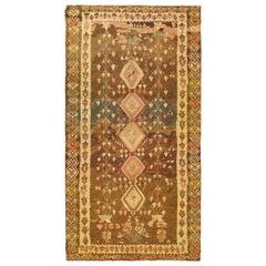 Vintage Bessarabian Kilim Flatweave Rug, in Gallery Size, w/ Repeating Geometric