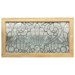 19th c Stained glass Beveled Glass Window