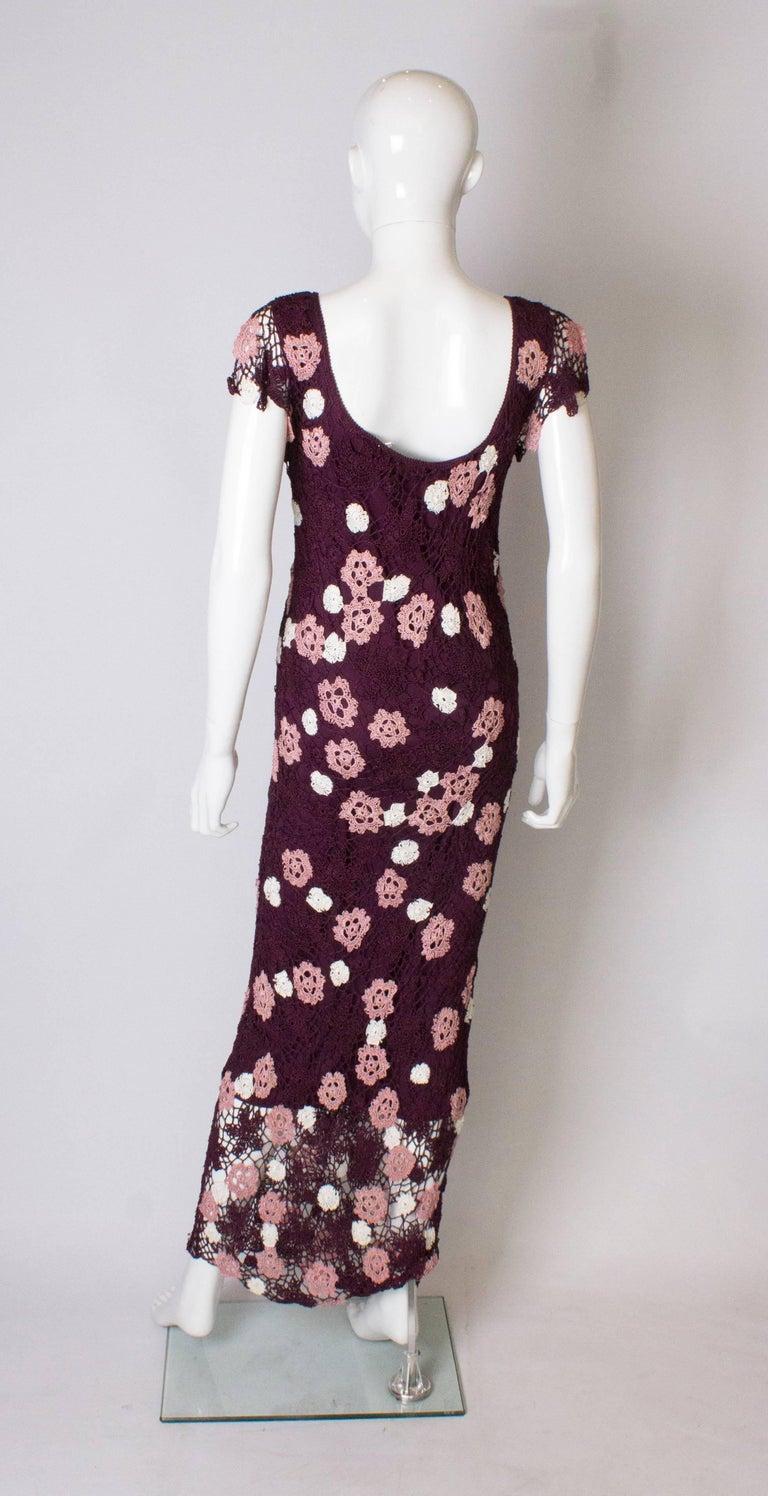 Vintage Bias Cut Crochet Dress For Sale 1
