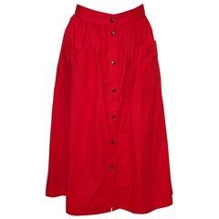 Vintage Biba Cotton Skirt with Pockets