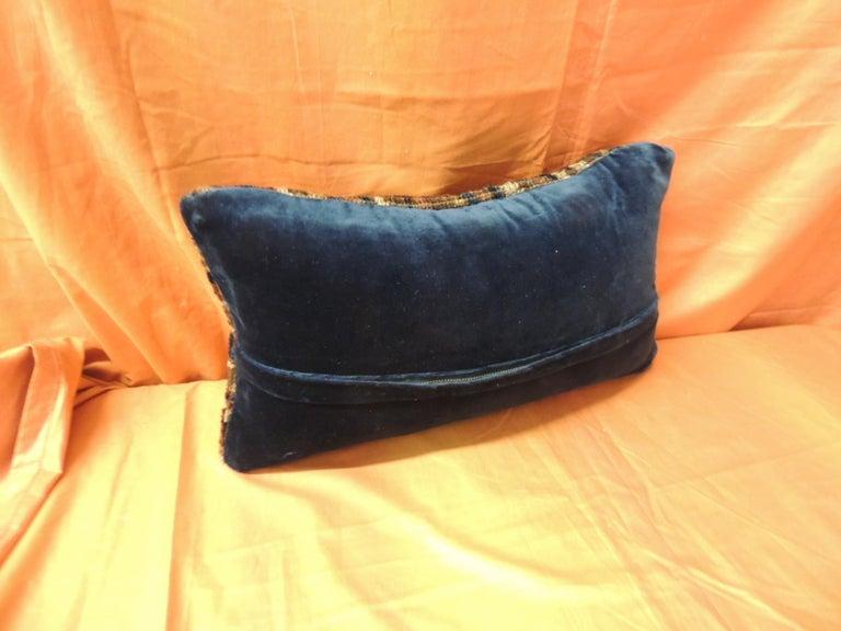 Turkish Vintage Bidjar Rug Fragment Decorative Lumbar Pillow For Sale