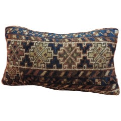 Vintage Bidjar Rug Fragment Decorative Lumbar Pillow