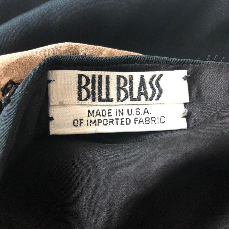 Vintage Bill Blass Cocktail Dress Black Illusion Lace Little Black Dress M For Sale 3
