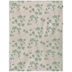 'Vintage Bird Trail' Contemporary, Traditional Fabric in Plaster/Green