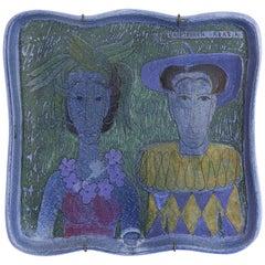 Vintage Birger Kaipiainen Ceramic Hanging Platter