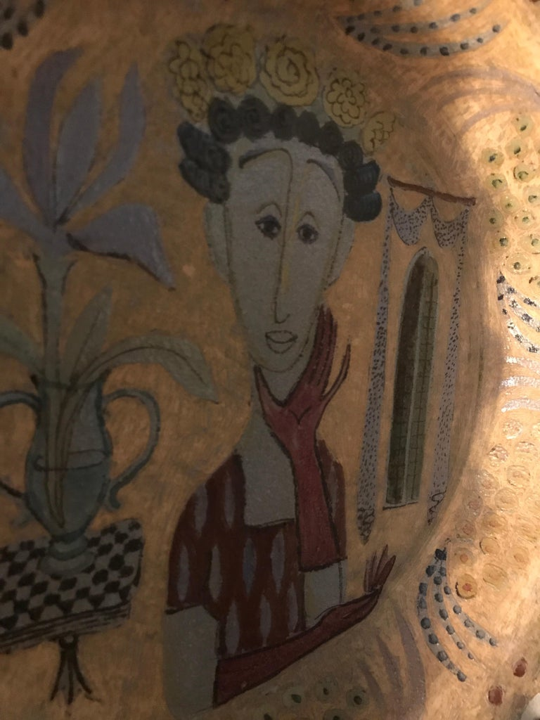 Vintage Birger Kaipiainen Ceramic Platter In Excellent Condition For Sale In Copenhagen K, DK