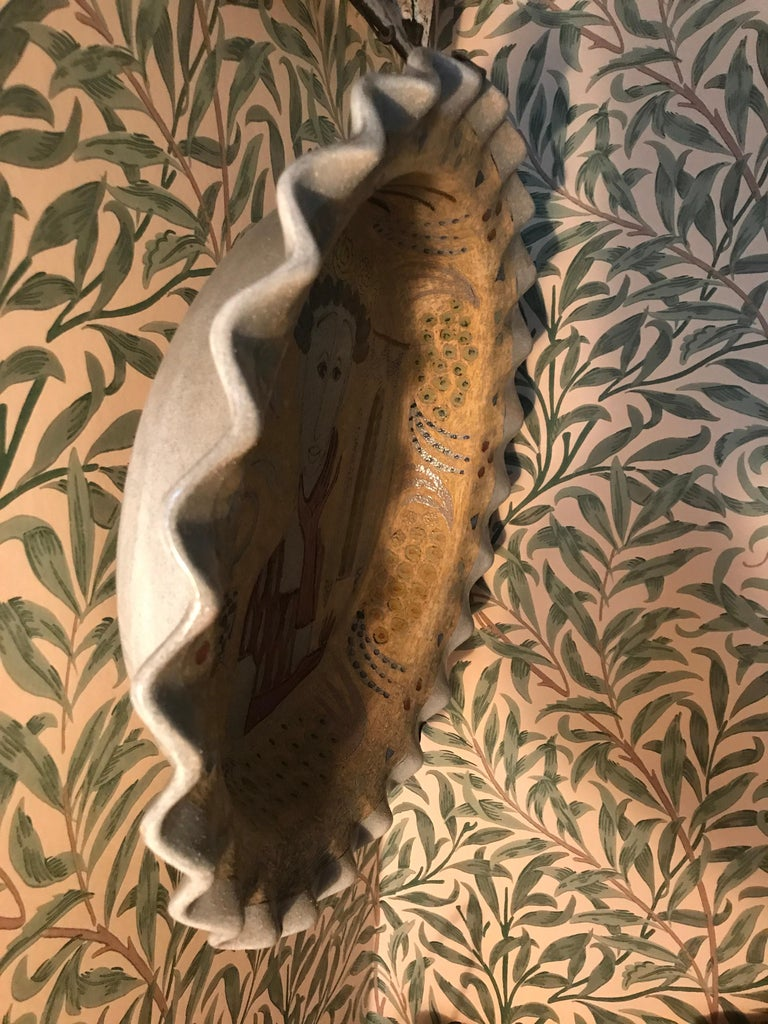 Mid-20th Century Vintage Birger Kaipiainen Ceramic Platter For Sale