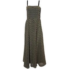 Vintage Black and Gold Dress