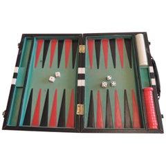 Vintage Black and White Backgammon Game