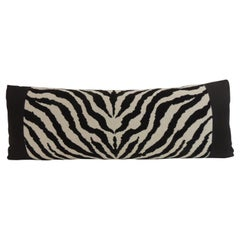 Vintage Black and White Zebra Pattern Tapestry Style Decorative Bolster Pillow