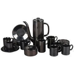 Vintage Black Coffee and Tea Set by Hedwig Bollhagen, Germany, 1961