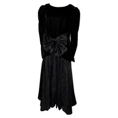 Vintage Black Evening Gown