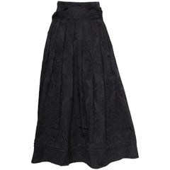 Vintage Black Evening Skirt by Louis Feraud