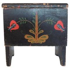Vintage Black Folk Art Style Shoe Shine Box/Kit