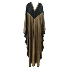 Vintage black gold long kaftan