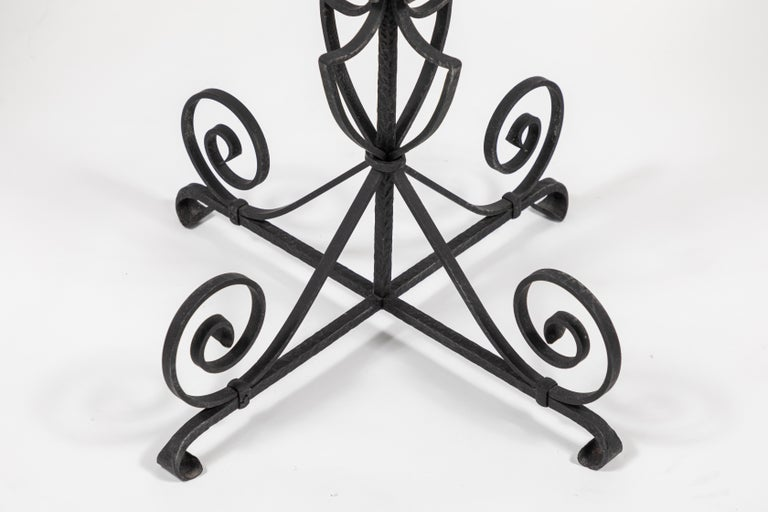 Vintage Black Iron Side Table For Sale 2