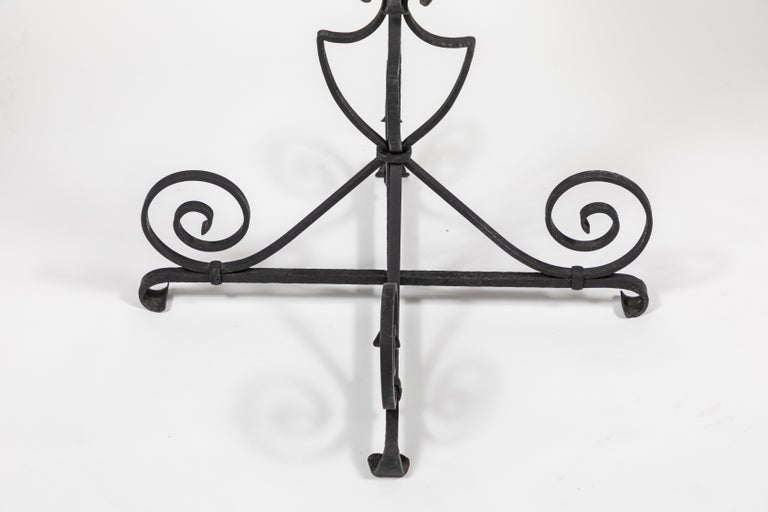 Vintage Black Iron Side Table For Sale 3