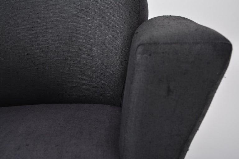 20th Century Vintage Black Italian Lounge Chair Model 548 by Lenzi, 1960s For Sale