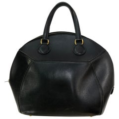 Vintage Black Leather Hermes Bag