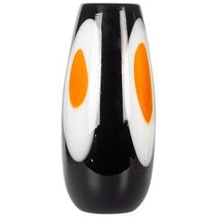 Vintage Black Murano Vase, 1960s