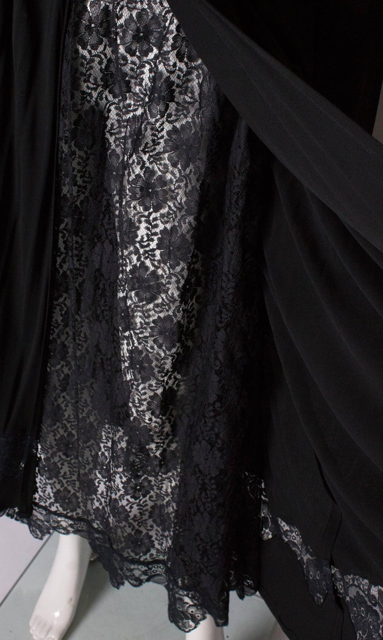 Vintage Black Quorum Dress In Good Condition For Sale In London, GB