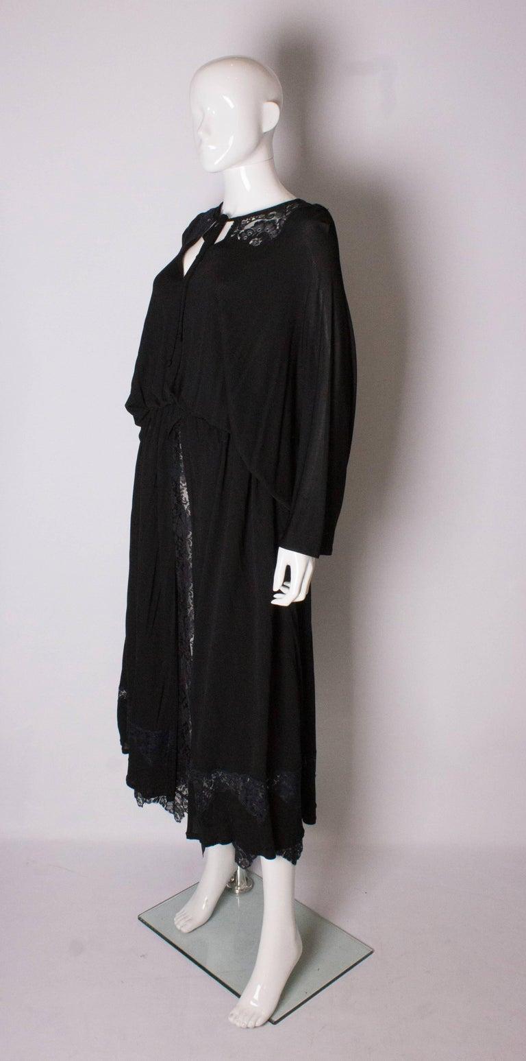 Women's Vintage Black Quorum Dress For Sale