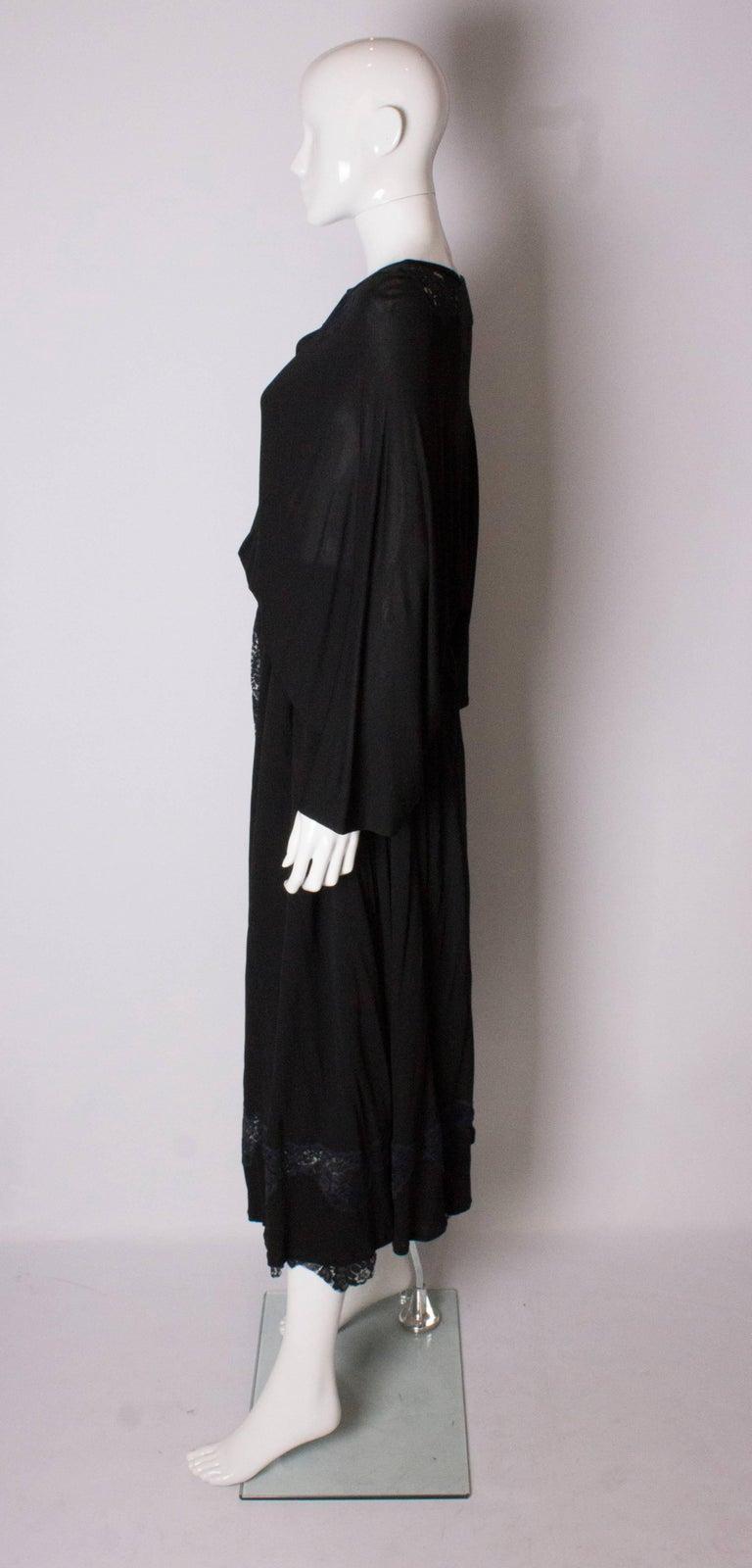 Vintage Black Quorum Dress For Sale 2