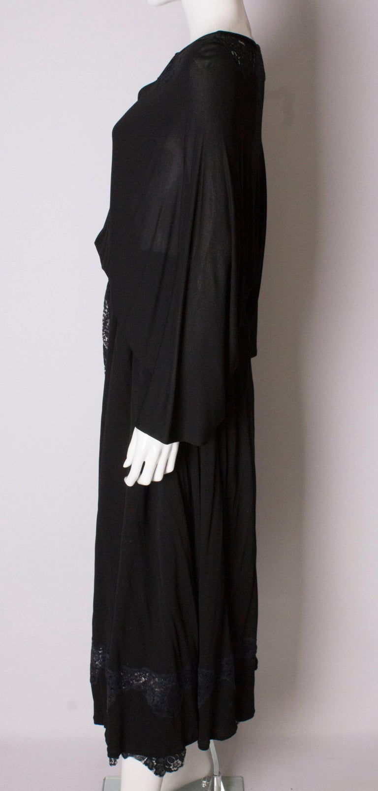 Vintage Black Quorum Dress For Sale 3