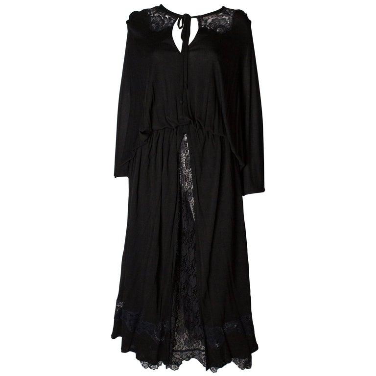 Vintage Black Quorum Dress For Sale