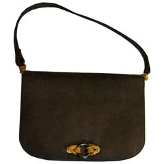 Vintage Black Satin Evening Bag by Rene Mancini