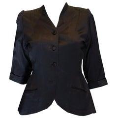 Vintage Black Satin Jacket