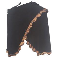 Vintage black scarf - foulard