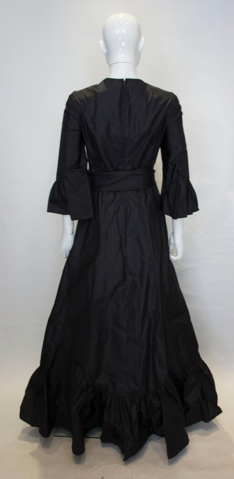 Vintage Black Silk Gown For Sale 1