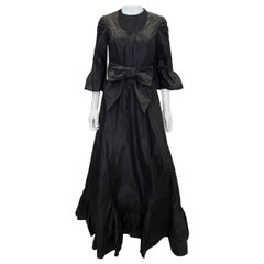 Vintage Black Silk Gown