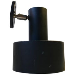 Vintage Black Wall Light from Louis Poulsen, Denmark, 1970s