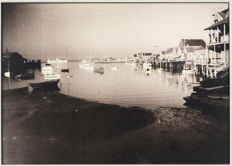 American Vintage Black & White Photograph, Nantucket Harbor, James F. Barker, circa 1935 For Sale