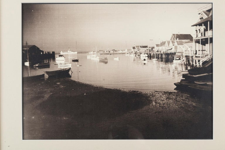 Vintage Black & White Photograph, Nantucket Harbor, James F. Barker, circa 1935 In Good Condition For Sale In Chappaqua, NY