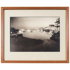Vintage Black & White Photograph, Nantucket Harbor, James F. Barker, circa 1935