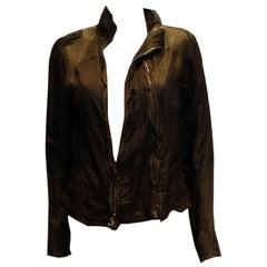 Vintage Black Yves Saint Laurent Jacket with Multiples Zips