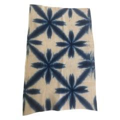 Vintage Blue and White Shibori Textile Fragment