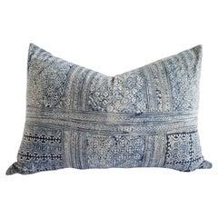 Vintage Blue Batik Standard Queen Size Pillow