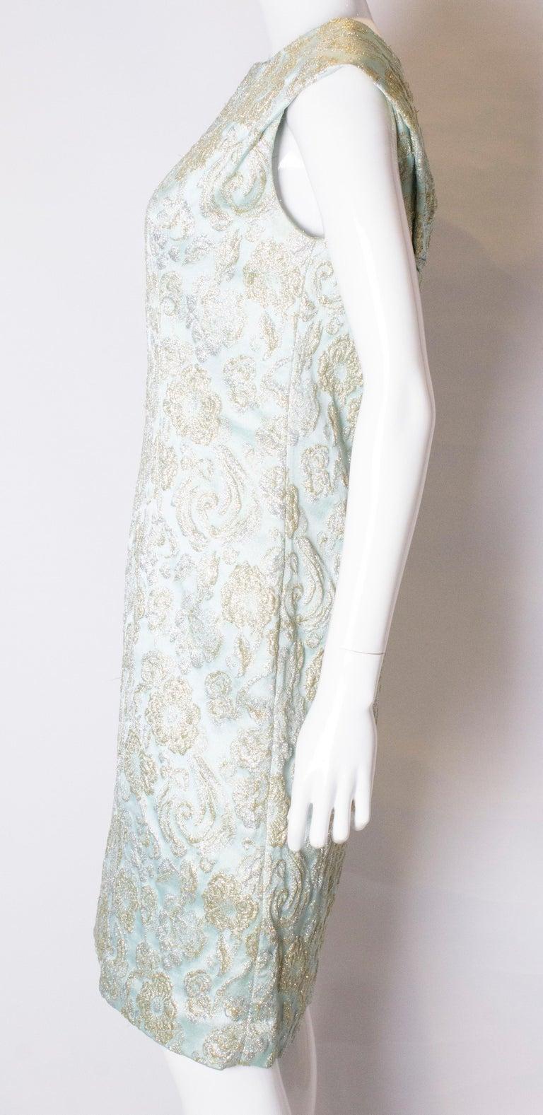 Women's Vintage Blue Cocktail Dress For Sale